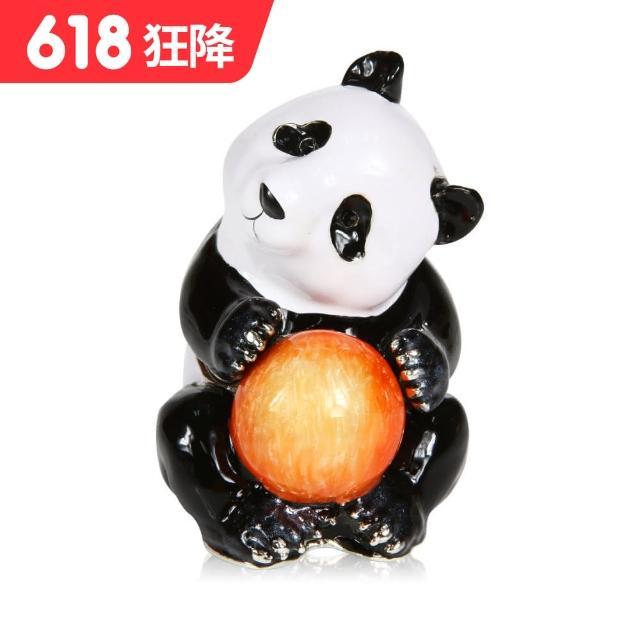 【三卡寶精品】熊貓抱皮球晶鑽(珠寶盒)