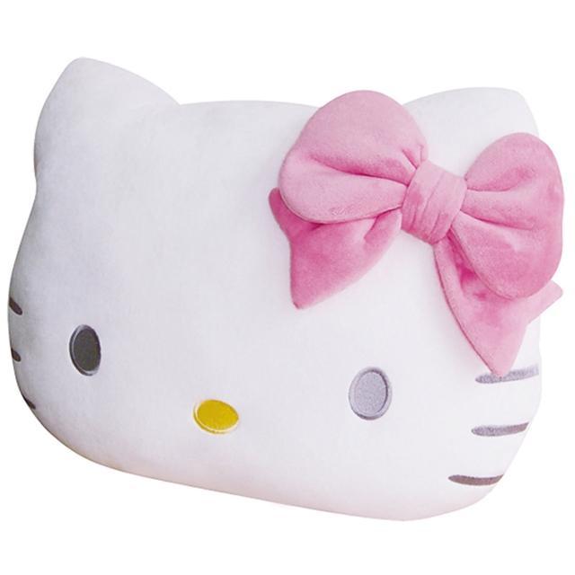 【享夢城堡】造型頭型抱枕(HELLO KITTY-粉)