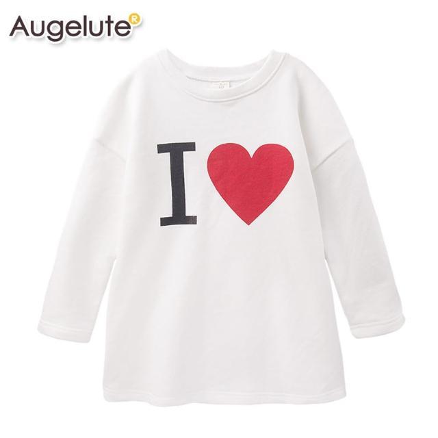 【baby童衣】上衣 長版素色印字T 47097