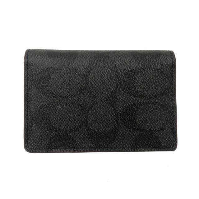 【COACH】C LOGO男款卡片名片夾(黑褐)