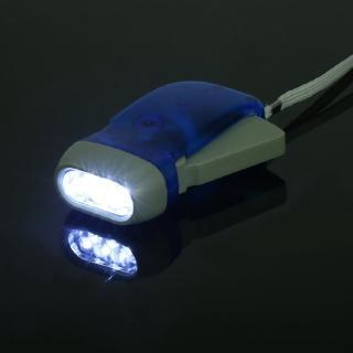 【Ainmax】多功能 手搖發電 LED 手電筒(免電池、超高效能手搖式充電)