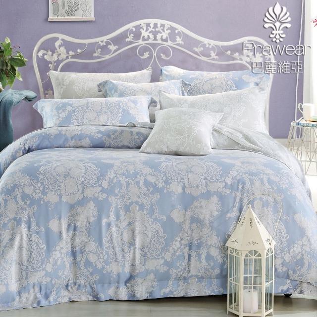 【巴麗維亞】100%天絲圖騰六件式兩用被床罩組華爾曼之戀(加大)