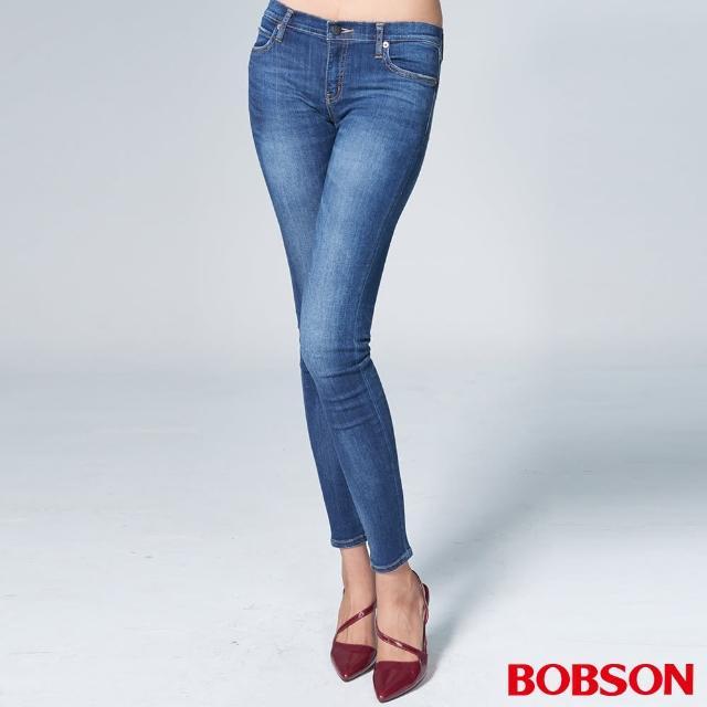 【BOBSON】女款1971日本黑標大彈力窄管褲(BSL001-WD)