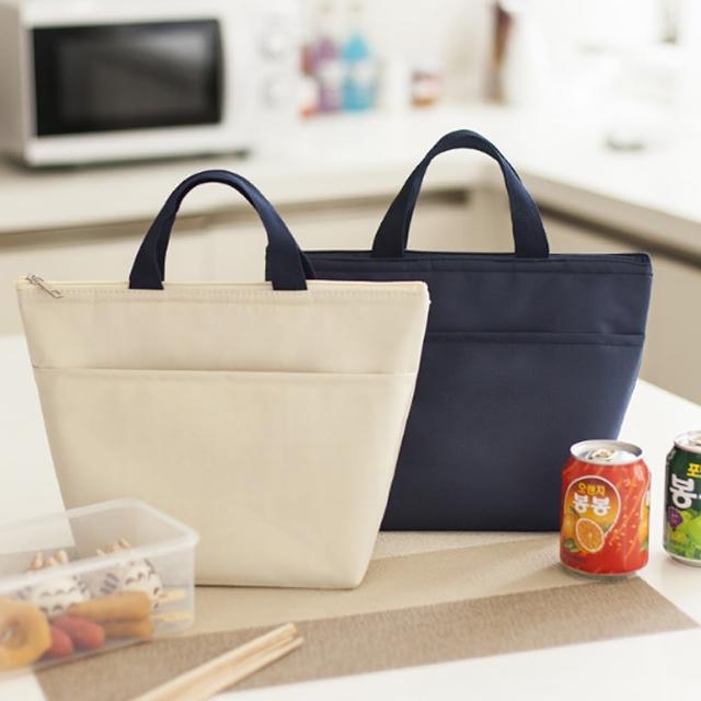 【E.City】2入-牛津布純色手提保溫保冷購物袋