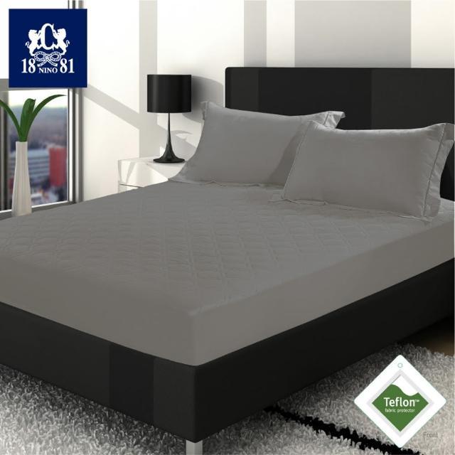 【NINO1881】護理型杜邦5級防潑水床包式保潔墊灰色-雙人  (杜邦防潑水+床包式高35cm+80g超厚鋪棉)