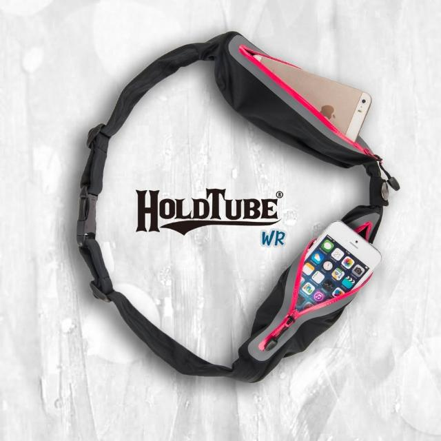 【HOLDTUBE】防潑水雙口袋(黑粉)
