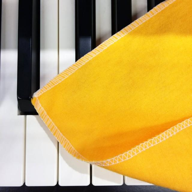 【THMC】樂器專用擦拭布 雙面黃色款 五入包裝款(每次出貨五面擦拭布為一包裝)