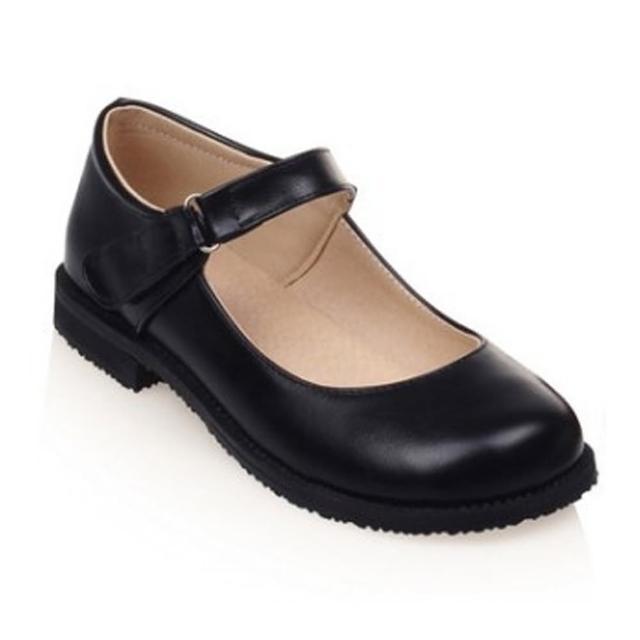 【Sp house】淑女氣質復古圓頭娃娃鞋(黑色全尺碼)