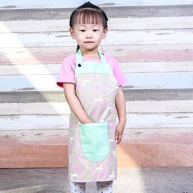 【E.City】韓版可愛兒童圍裙吃飯畫畫衣