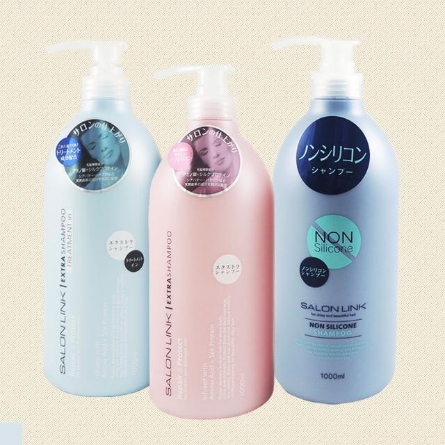 【KUMANO】熊野 沙龍級無矽靈 洗髮乳系列 1000ml(洗潤二合一 保濕 清爽)