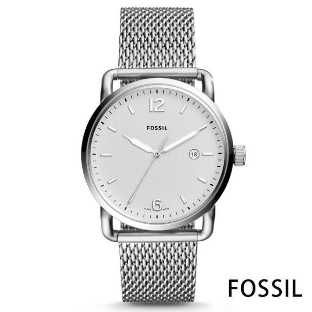 【FOSSIL】經典當代米蘭帶男錶-銀色x42mm(FS5418)