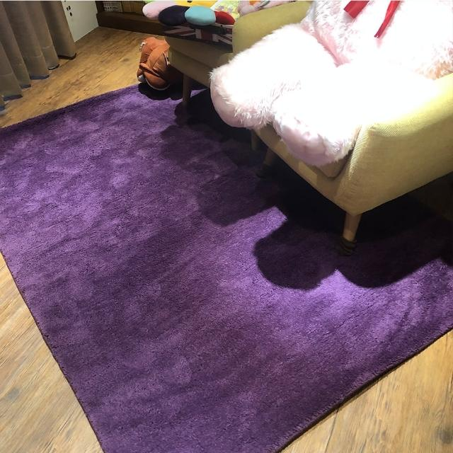 【山德力】凡地剛地毯 - 紫 140x200cm(地墊 多色 溫暖 冬天  生活美學)