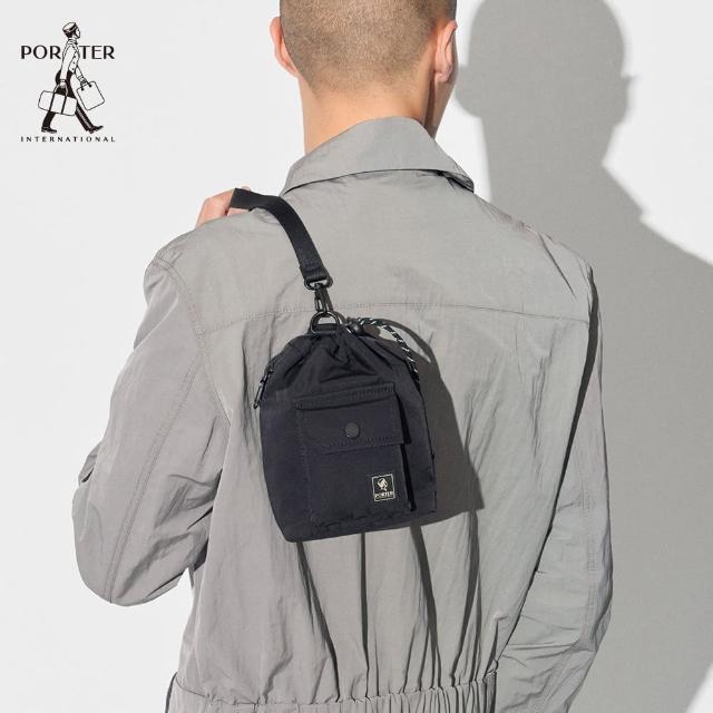 【PORTER INTERNATIONAL】LAPSE手提斜背兩用水桶包-XS(黑)