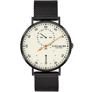 【COACH】獨立三針時尚米蘭帶腕錶-41mm(14602480)