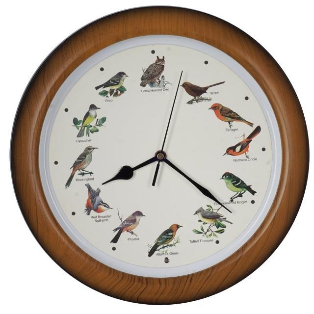 【鐘情坊 JUSTIME】小鳥仿木色掛鐘