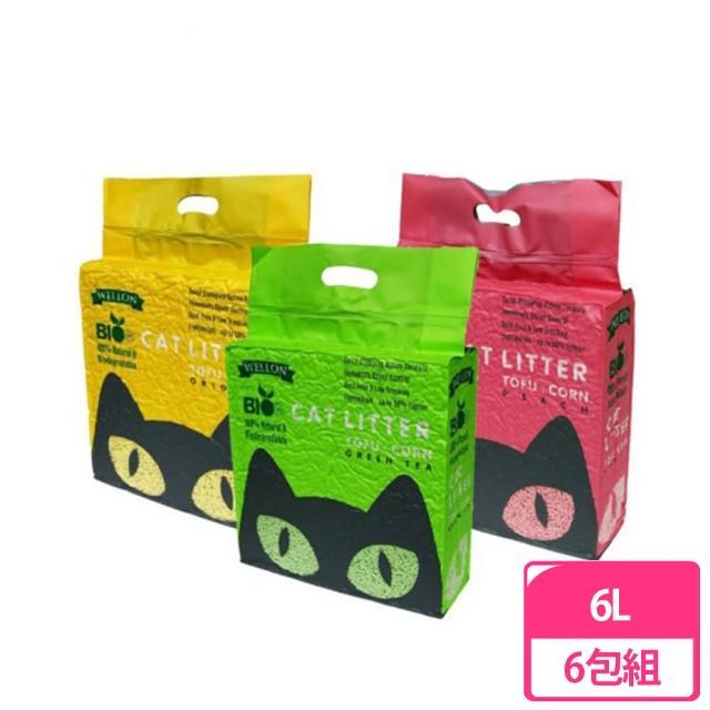 【Bio Cat】細顆粒豆腐貓砂 6L(6包組/3種香味)