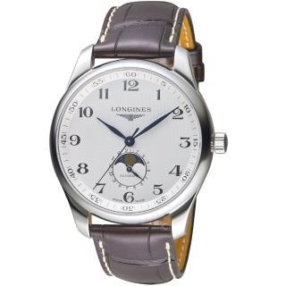 【LONGINES 浪琴】巨擎系列經典月相機械錶(L29194783)