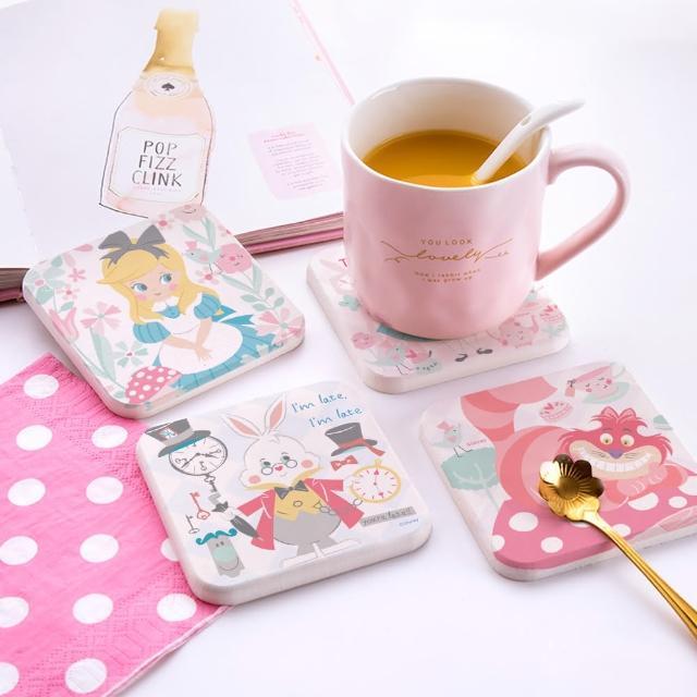 【網狐家居】愛麗絲夢遊仙境珪藻土吸水杯墊(2入一組)