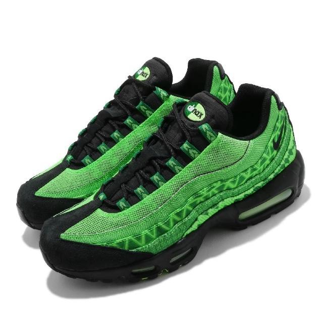 【NIKE 耐吉】休閒鞋 Air Max 95 CTRY 運動 男女鞋 氣墊 舒適 避震 簡約 球鞋 情侶穿搭 綠 黑(CW2360-300)