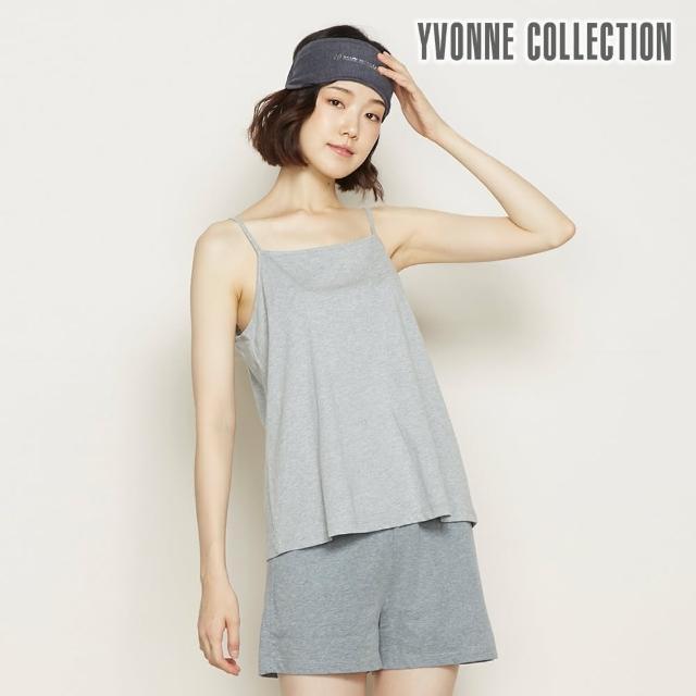 【Yvonne Collection】素面細肩帶上衣(迷霧灰L)