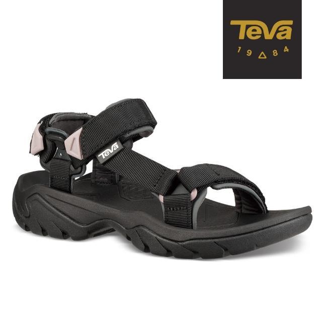 【TEVA】原廠貨 女 Terra Fi 5 戶外健行運動涼鞋/雨鞋/水鞋(黑-TV1099443BLK)