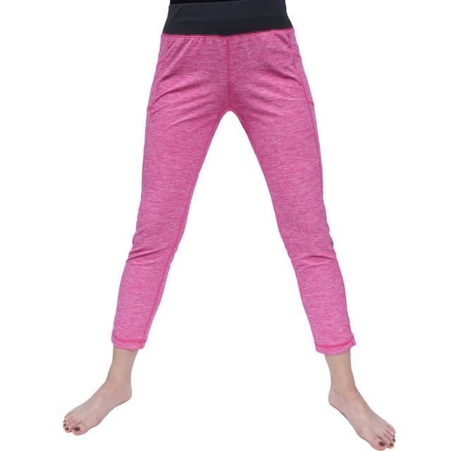 【Vital Salveo 紗比優 買一送一】女運動休閒八分褲-贈運動護踝單支(遠紅外線韻律運動瑜珈褲-台灣製造)