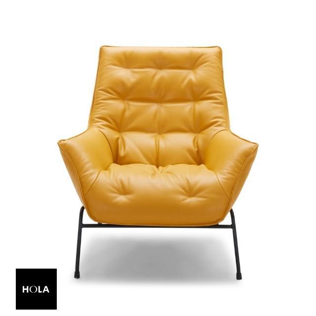 HOLA【HOLA】KUKA HOME 達芬奇 單椅 橙色 A1118 M5658/SP