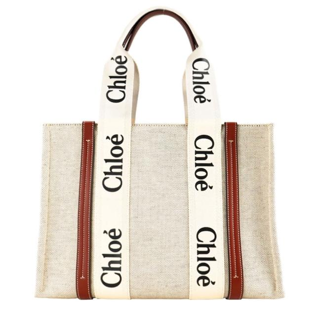 【Chloe' 蔻依】tote bag帆布托特包(大號/焦糖咖色)