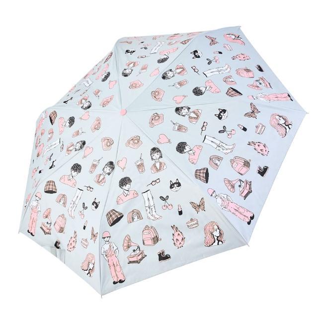 【rainstory】-8°降溫凍齡個人自動傘-繽紛派對(遮光色膠系列)