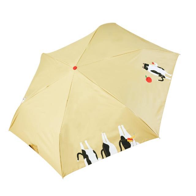 【rainstory】-8°降溫凍齡個人加大自動傘-蘋果貓(遮光色膠系列)
