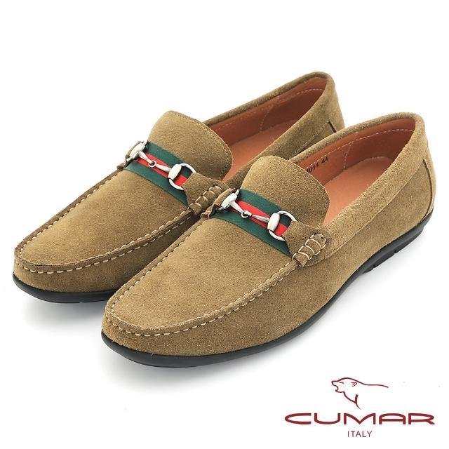 【CUMAR】時尚樂活 經典造型真皮帆船鞋(綠色)