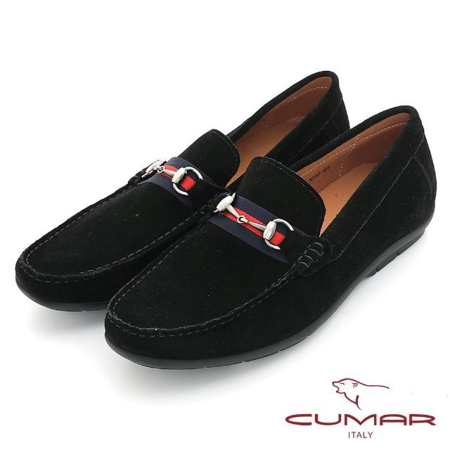 【CUMAR】時尚樂活 經典造型真皮帆船鞋(黑色)