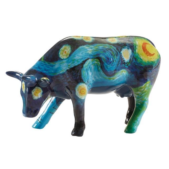 【富邦藝術基金會】2021限量藝術牛:梵谷星空 中型 陶瓷(CowParade 牛年 過年 送禮)