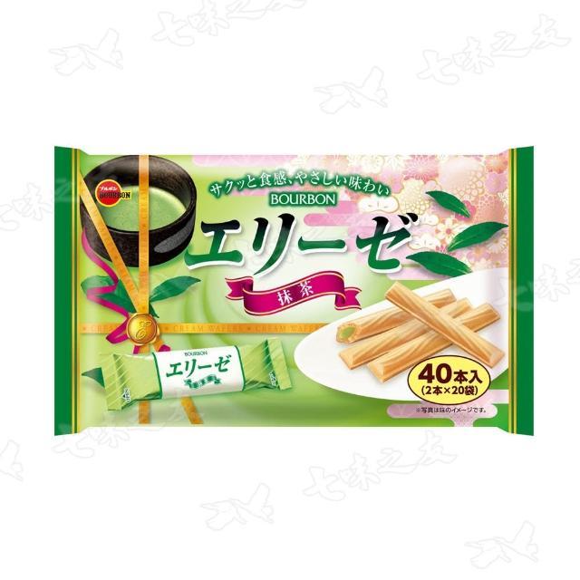 【Bourbon 北日本】抹茶艾莉絲捲心餅家庭包 144g