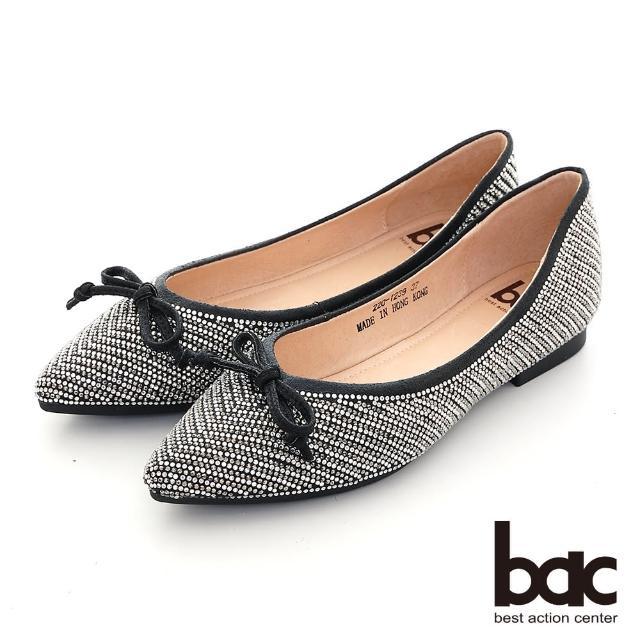 【bac】璀璨光芒尖頭平底娃娃鞋(黑色)