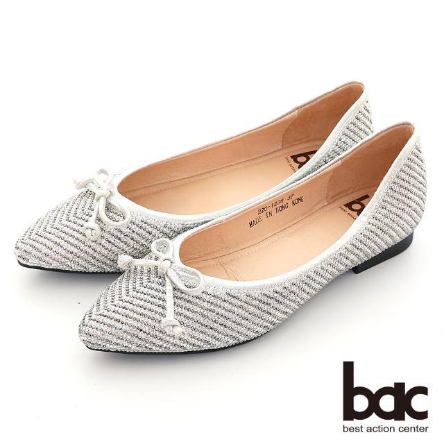【bac】璀璨光芒尖頭平底娃娃鞋(銀色)