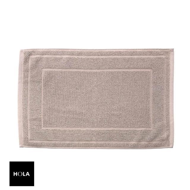 【HOLA】葡萄牙純棉緹花毛巾踏墊40x60cm 框紋卡其