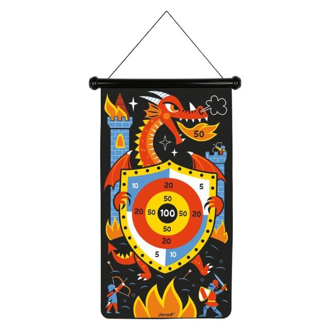 【Janod】磁性趣味標靶-騎士大戰噴火龍