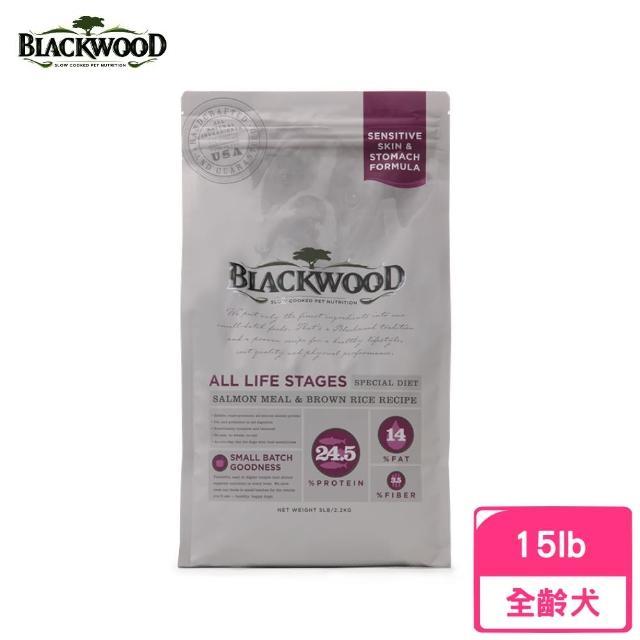 【BLACKWOOD 柏萊富】功能性全齡腸胃保健配方(鮭魚+糙米)15LB/6.8KG