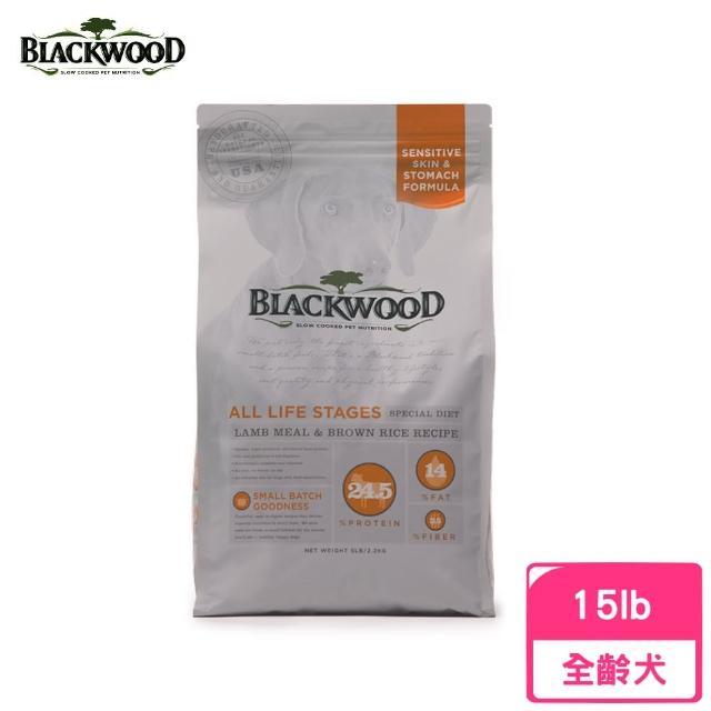 【BLACKWOOD 柏萊富】功能性全齡護膚亮毛配方(羊肉+糙米)15LB/6.8KG