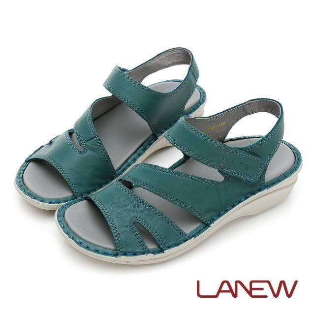 【La new】風格編織厚底涼鞋 楔形鞋(女60270602)