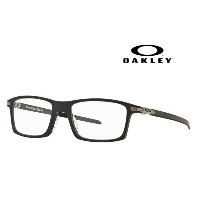 【Oakley】奧克力 光學鏡框 PITCHMAN CARBON 霧黑框碳纖維鏡臂 舒適好配戴 OO8092 01 公司貨