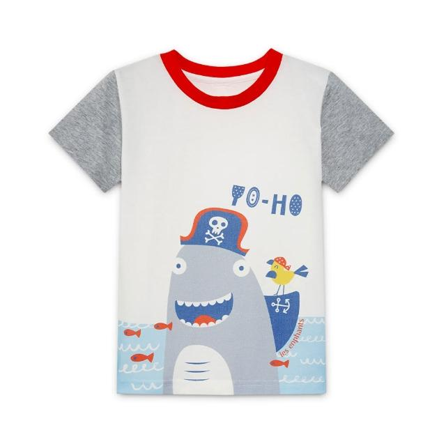 【麗嬰房】EASY輕鬆系列 男童海盜樂園短袖上衣-鯊魚船長(76cm~130cm)