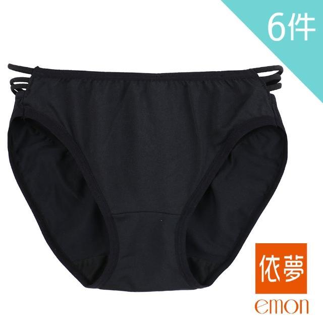 【emon】祕戀美鑽 性感美臀三角褲 6件組(隨機色)