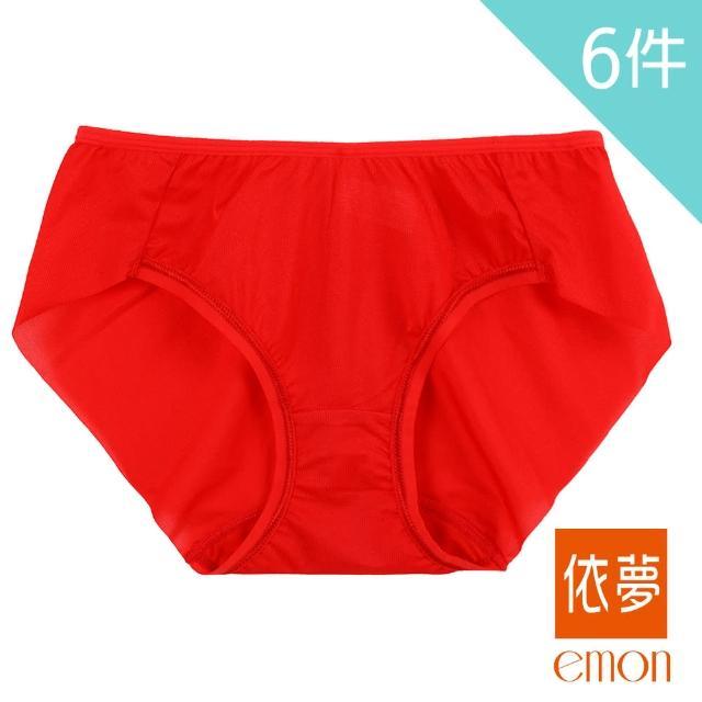 【emon】微亮魅力 性感無痕低腰三角褲 6件組(隨機色)