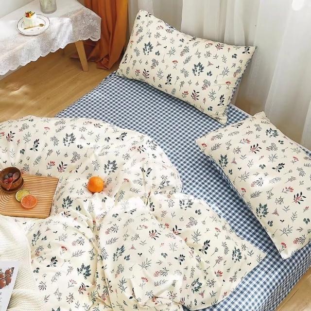 【BOMAN 送飯店枕】專櫃好棉 200織精梳棉全鋪棉兩用被厚包組(單/雙/加大---贈五星級飯店枕*2)