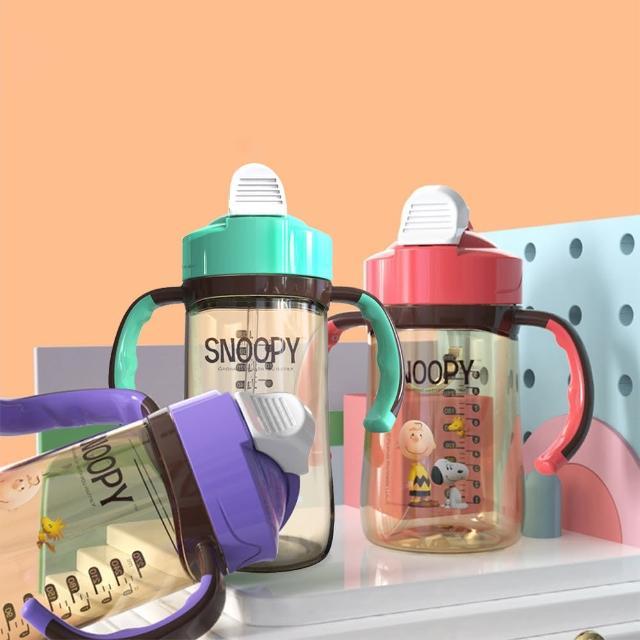 【SNOOPY 史努比】直身滑蓋PPSU吸嘴重力球防嗆嬰幼兒學飲水杯330ml 寶寶學飲水壺 不含雙酚A
