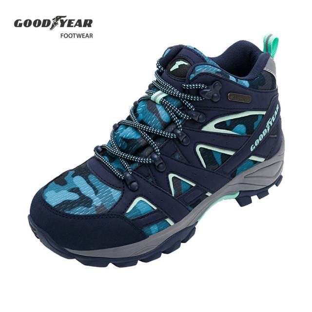 【GOODYEAR 固特異】戰術靴-郊山健行鞋 女 戶外 動態防水襪套 耐磨 高筒 地中海藍(GAWO12506)