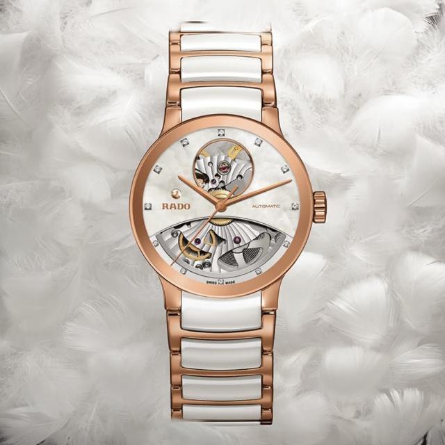 【Rado 雷達表】Centrix 晶萃真鑽開心機械女錶-雙色版/33mm(R30248902)