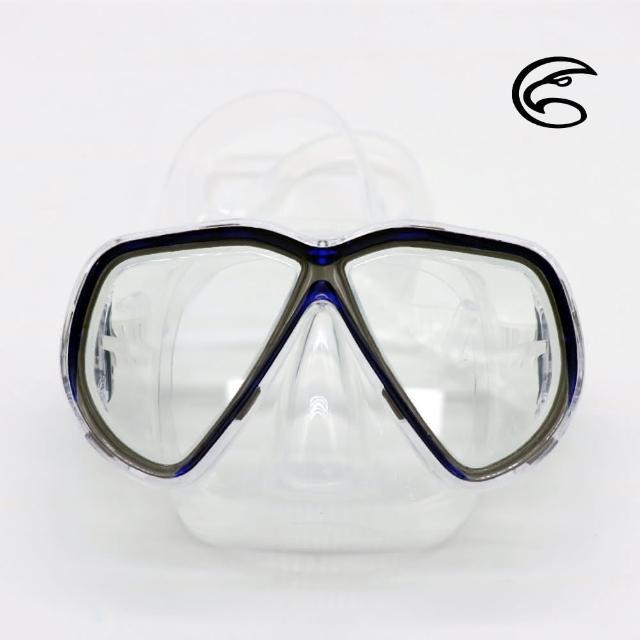 【ADISI】WM02 雙眼面鏡 深藍色(蛙鏡、浮潛、潛水、戲水、泳鏡、潛水面鏡)